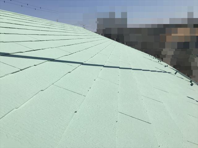 恵那市大井町屋根上塗り塗装完成