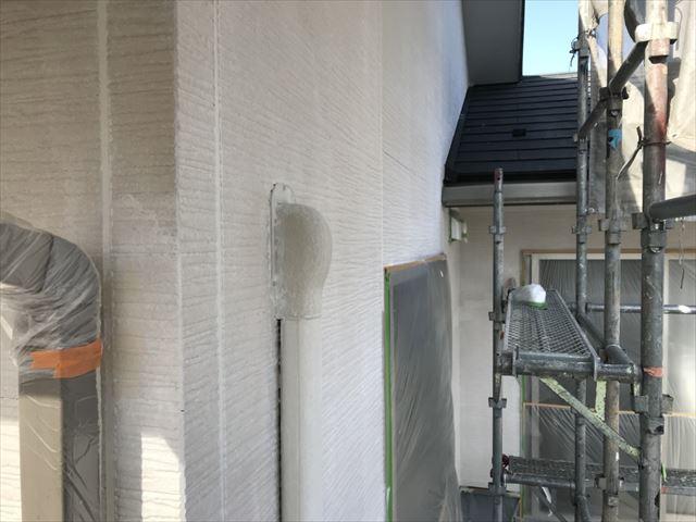 恵那市大井町外壁下塗り塗装2回目
