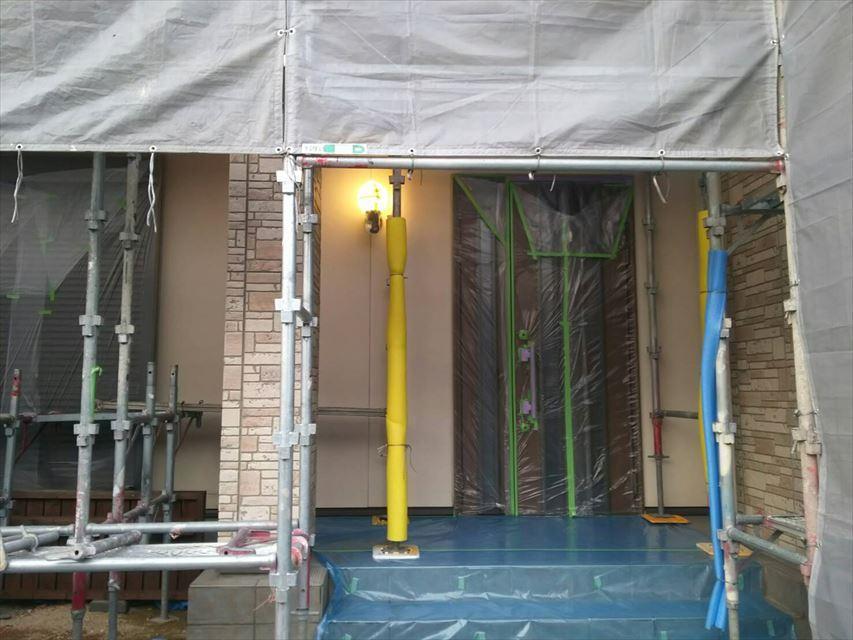 土岐市外壁屋根塗り替え養生