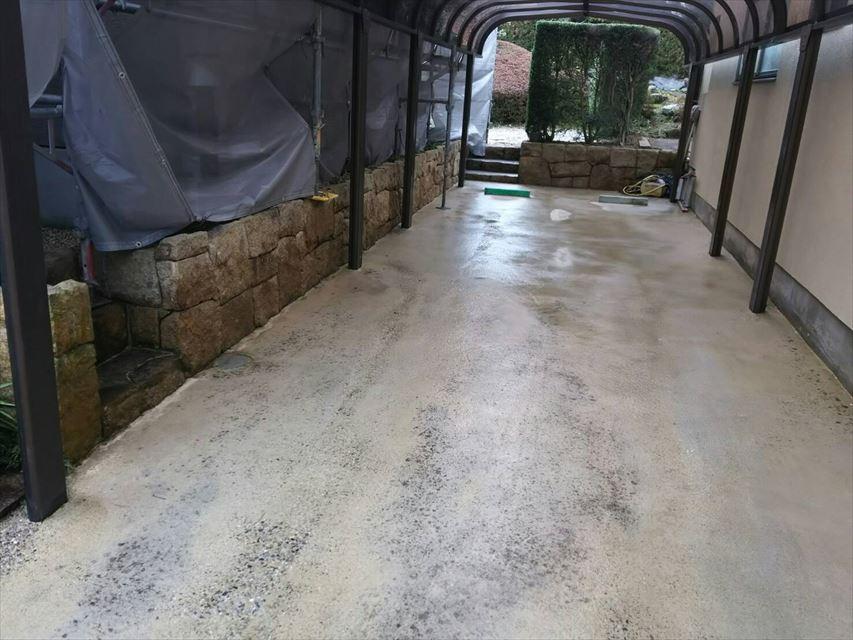土岐市駐車場バイオ洗浄
