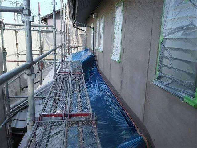 土岐市外壁塗装 養生 マスキング