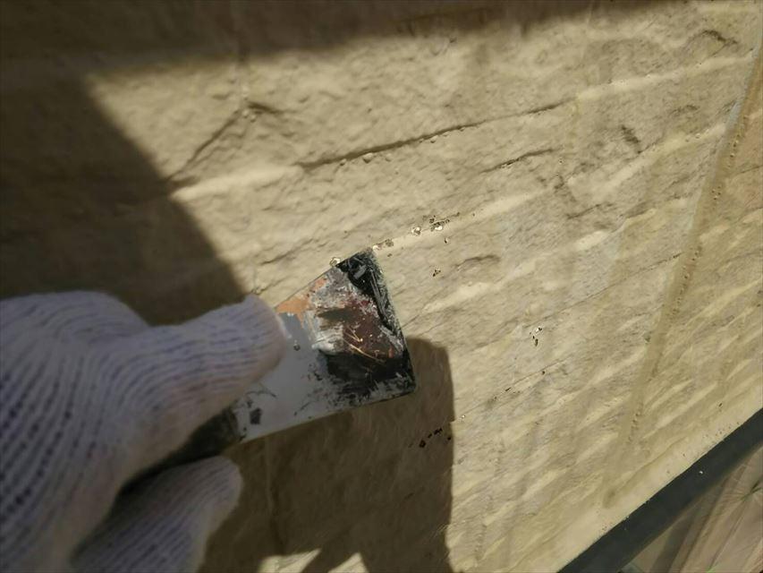 土岐市外壁ケレン作業