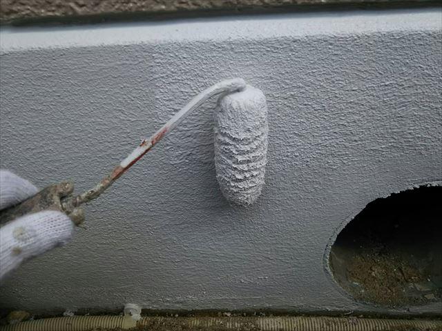 土岐市ベースガードにて基礎の塗装