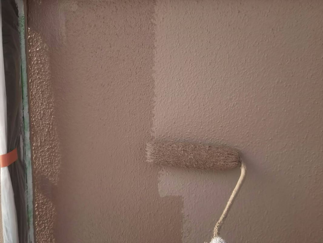 多治見 外壁塗り替え 3回塗り 上塗り