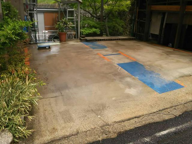 高圧洗浄駐車場