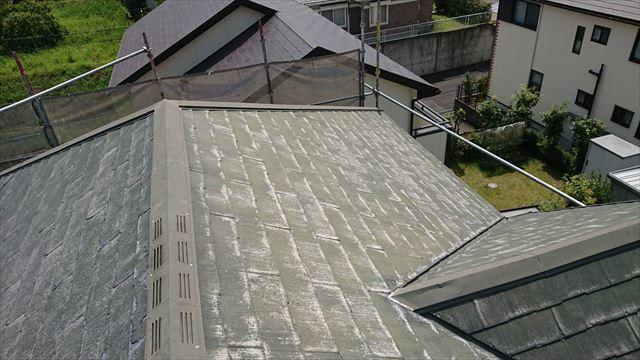 洗浄した屋根です