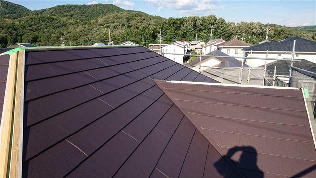 屋根のガルテクト葺き替え