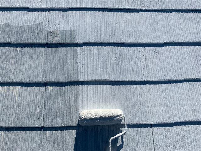 瑞浪市 屋根下塗り2回目