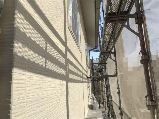 恵那市大井町外壁中塗り塗装