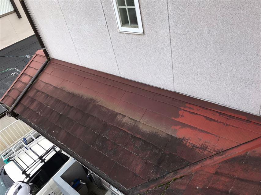 瑞浪市、下屋根のカビ・コケ発生