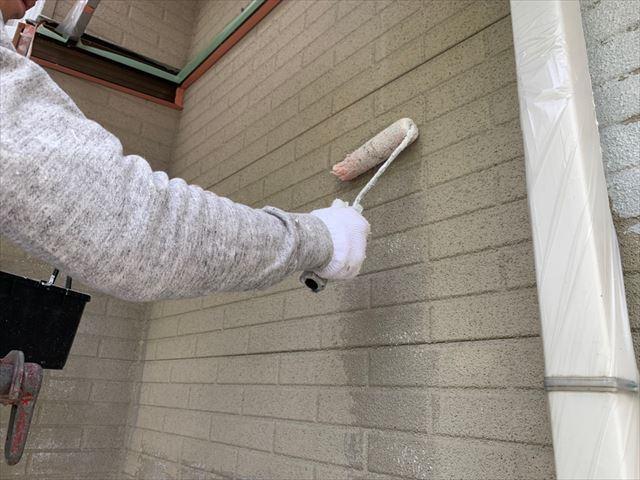 瑞浪市で屋根外壁塗装 下塗り