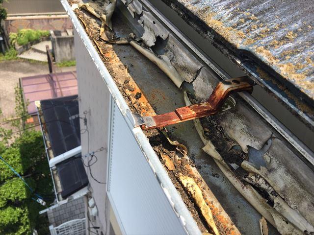 軒樋の劣化・損傷があります