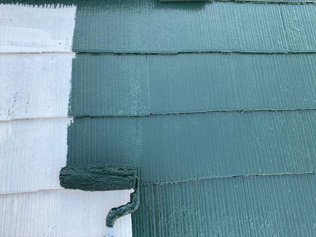 瑞浪市 屋根塗装 中塗り