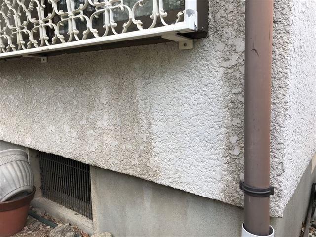 外壁の汚れ、塗膜劣化