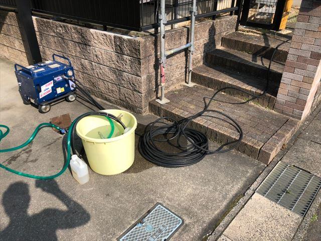 土岐市、バイオ洗浄と高圧水洗浄