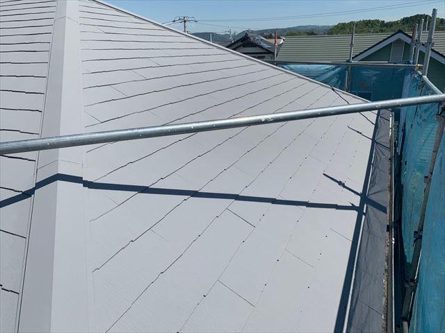 恵那市で屋根上塗り