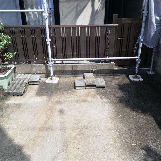 庭の洗浄です