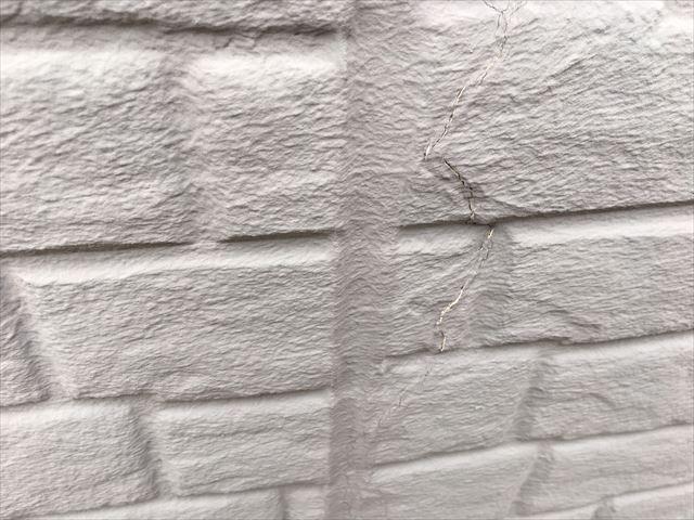 外壁面の亀裂
