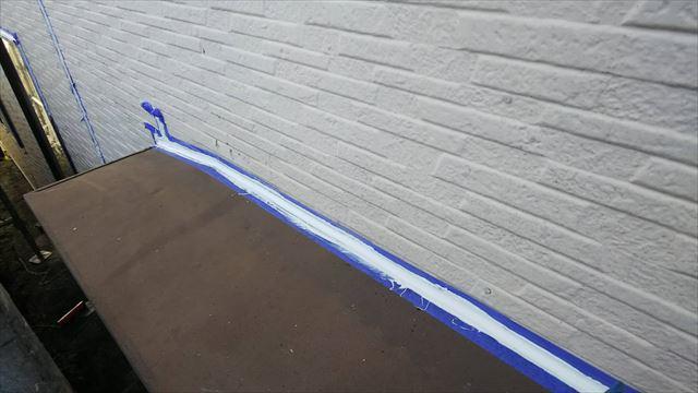 小庇天板、シーリング補修
