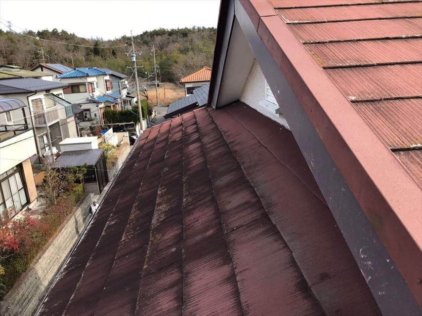 瑞浪市、既存のスレート屋根の劣化
