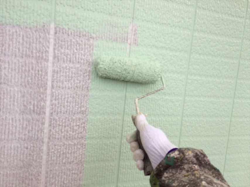 土岐市外壁中塗り