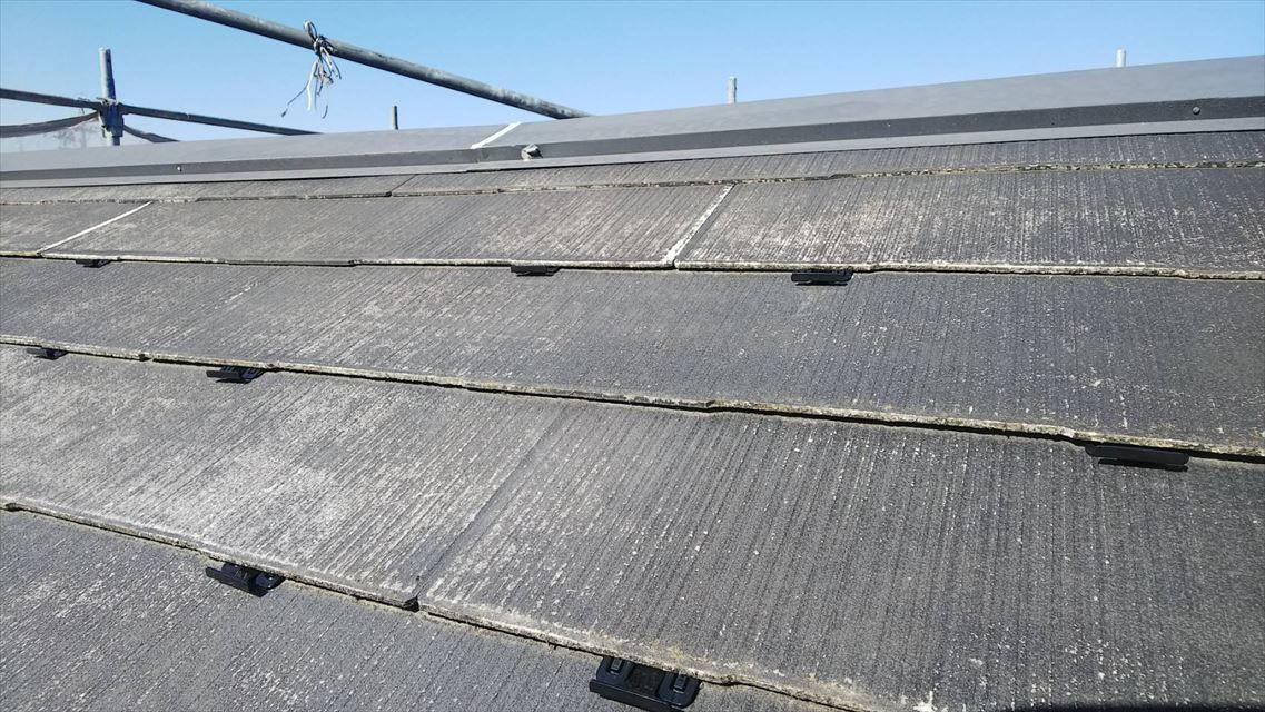 土岐市下石町スレート屋根塗り替え縁切り