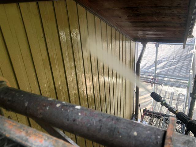 恵那市長島町で外壁バイオ洗浄