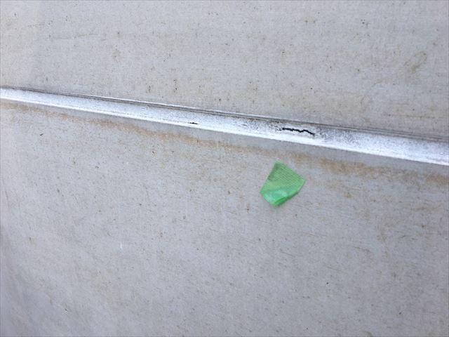 横目地シーリング材の亀裂