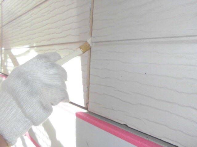 恵那市大井町で外壁塗装、プライマー塗布