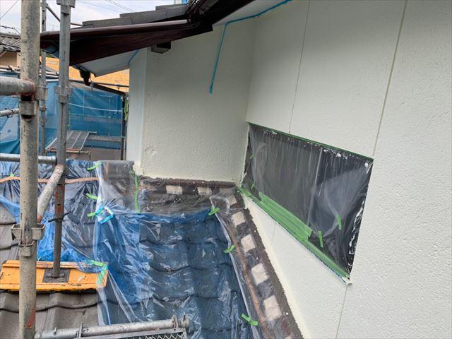 瑞浪市 外壁塗装上塗り
