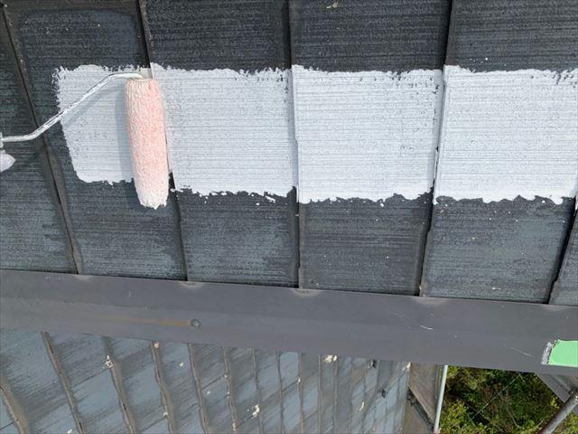 瑞浪市で屋根塗装下塗り
