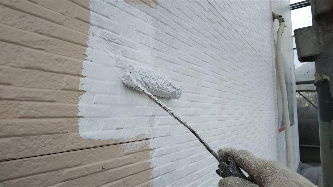 土岐市下石町外壁下塗り