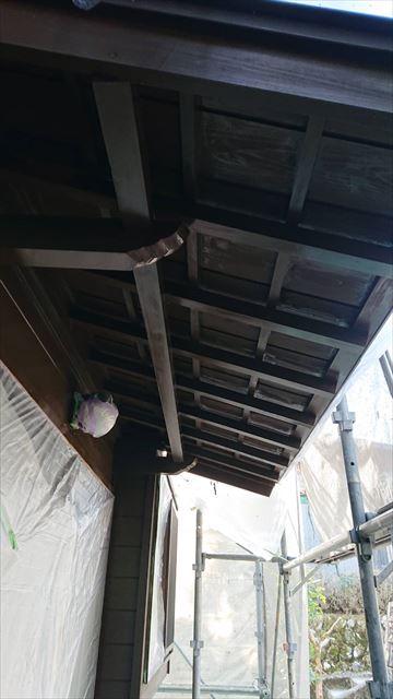 恵那市で外壁塗装 軒天塗装