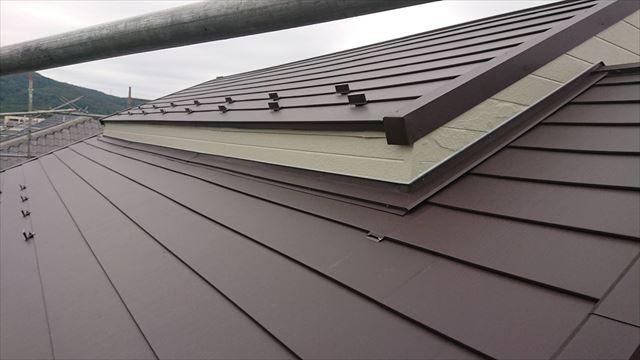 恵那市で屋根葺き替え工事 雪止め金具設置