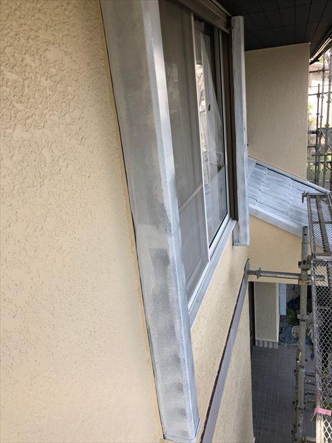 外壁の上塗り塗装、完了です