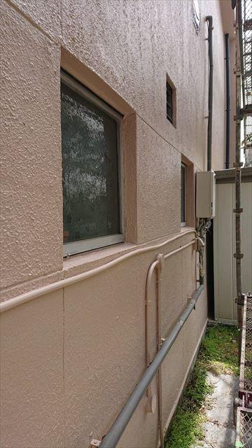 恵那市で外壁塗装 上塗り