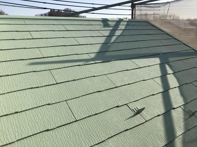 恵那市大井町屋根中塗り塗装完成