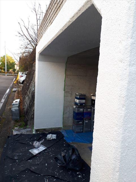 ブロック塀の塗装、完了です