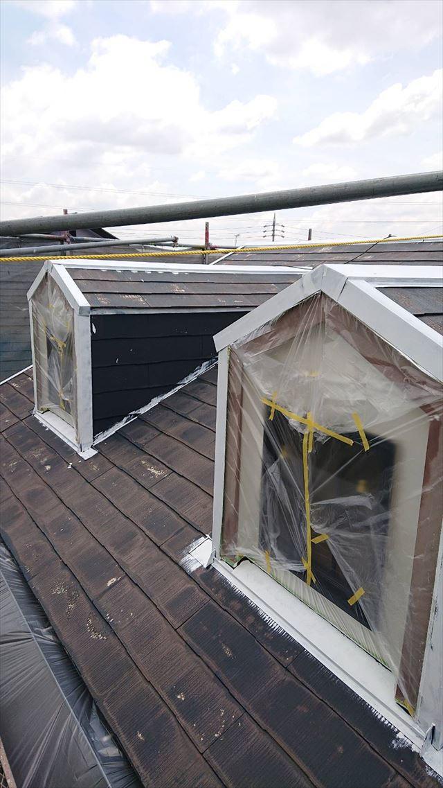 屋根の棟板金塗装