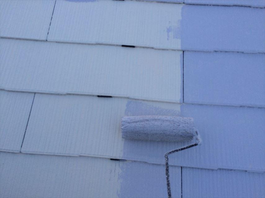 土岐市屋根中塗りガイナ