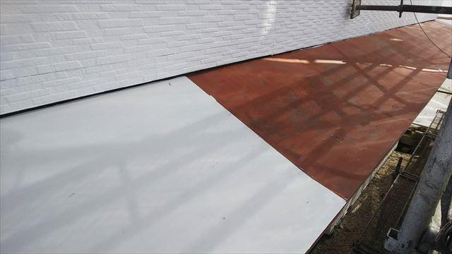 トタン屋根の下塗り塗装