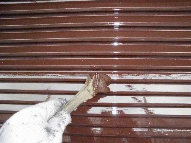 瑞浪市、雨戸の塗装