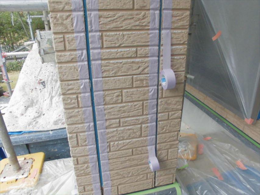 可児市外壁目地マスキングテープ