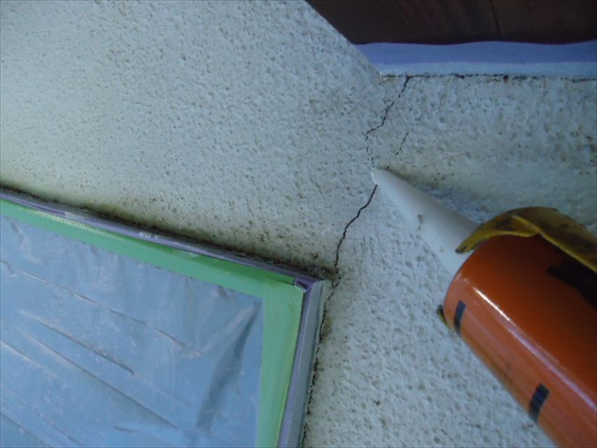 土岐市外壁亀裂コーキング
