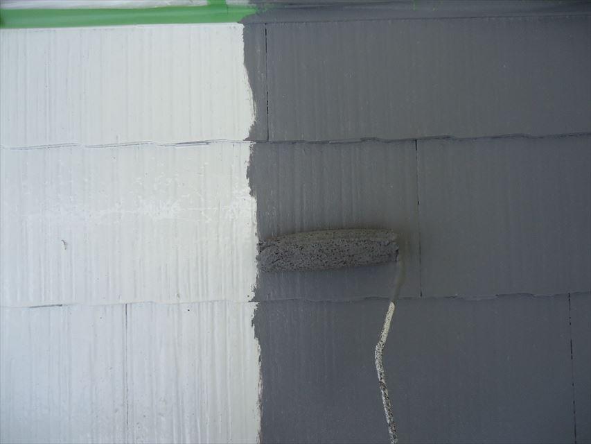 可児市スレート屋根ガイナ塗り替え