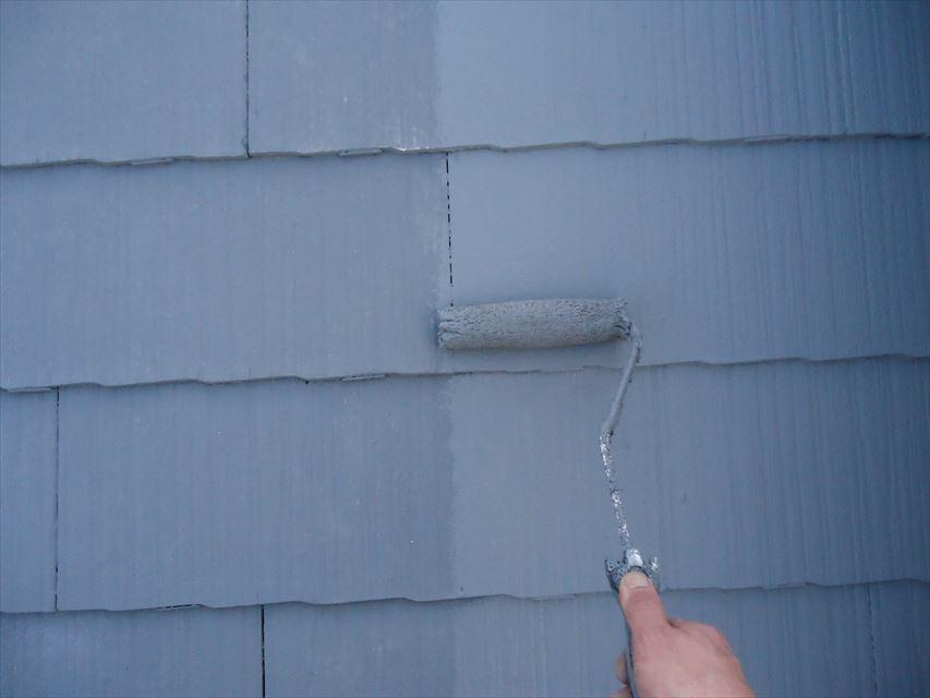 多治見市スレート屋根上塗り