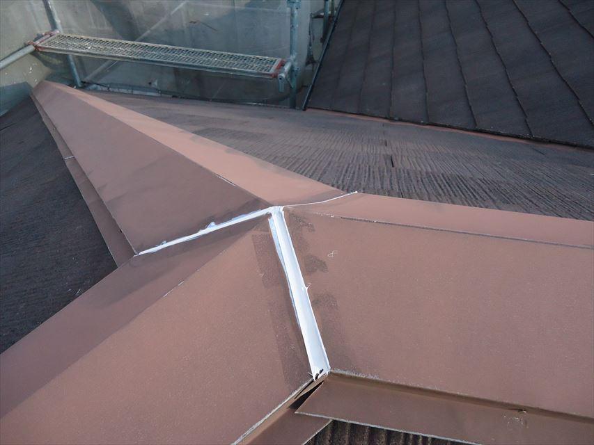 多治見市屋根棟板金コーキング