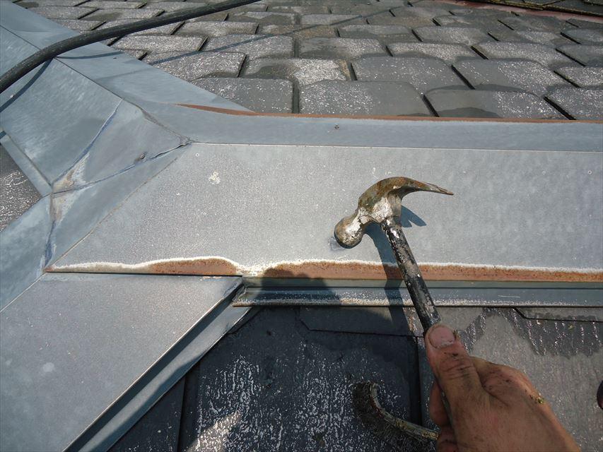 可児市屋根板金部釘浮き