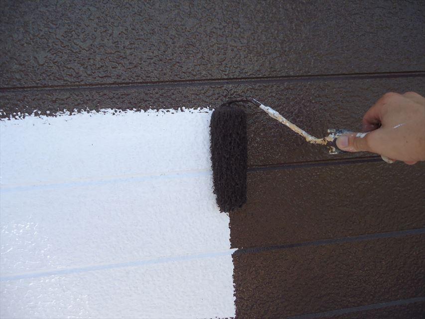 多治見市外壁中塗り