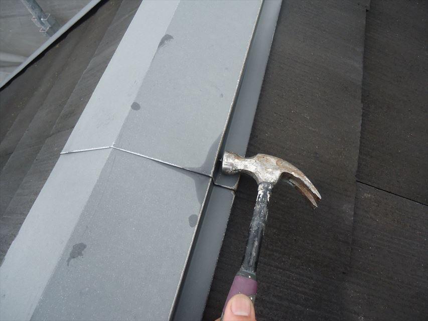 多治見市屋根板金釘打ち